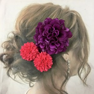 パープルダリア  髪飾り  2