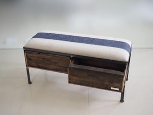 品番UEM2-110  2drawer ottoman[nerrow/European military blanket]