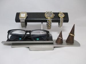 クリスマスプレゼント!だ円パイプブラック腕時計4本掛け、スマホ、めがね、アクセサリー収納スタンド ak-design No.161213