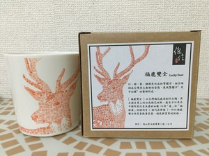 台湾式マグカップ 鹿 漢字