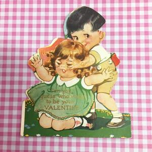 ヴィンテージ  バレンタインカード