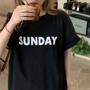 SUNDAYプリントTシャツ RD8555