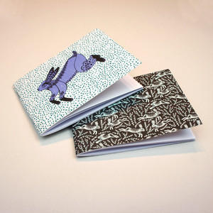 Set of Two Mini Notebooks - Hares Design