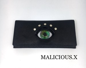 eye wallet / green marble