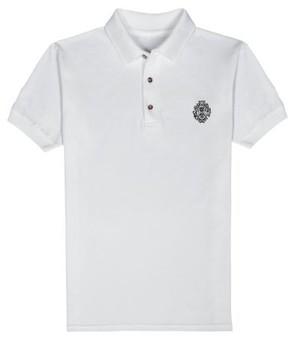 ロゴ刺繍ポロシャツ (white)