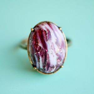 アメジストアゲートガラスリング(指輪)
