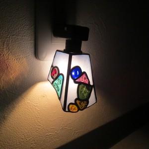 手作りガラスのフットライト