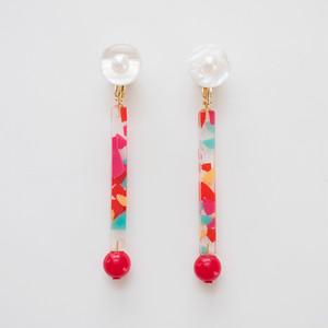 Neo Eccentric earrings -lollipop red-