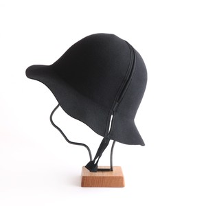 mature ha./folding hat/black