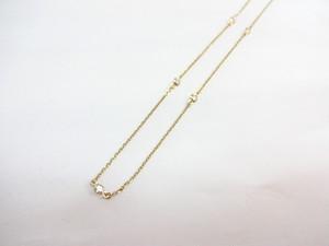 【完売しました】5石 ダイヤモンド ネックレス K18 0.25ct