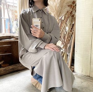 light gray ethnic long shirt
