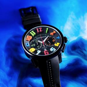 【Tendence テンデンス】TY460610 GULLIVER RAINBOW  ガリバーレインボー(ブラック)/国内正規品 腕時計