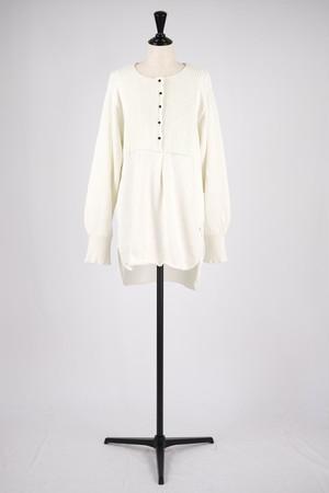 【kota gushiken】Washi pleatedish shirt - white