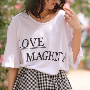 nselection LOVE MAGENTA Tシャツ / WH・PK・BG
