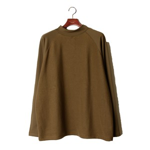 Back Side Detail Moc Neck Tops -olive <LSD-AI3T2>