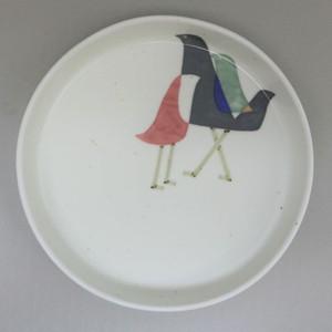 和紙染鳥 新型パン皿