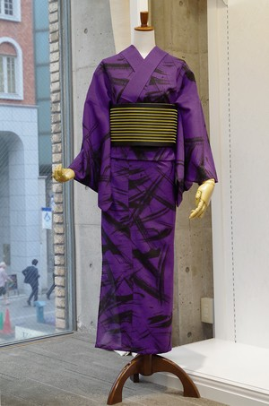 JUNKO KOSHINO浴衣 レディース ポリエステル(セオα) 洗える 仕立上がり 冴 №22紫