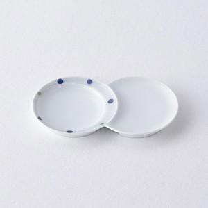 色彩水玉・青 小分け豆皿
