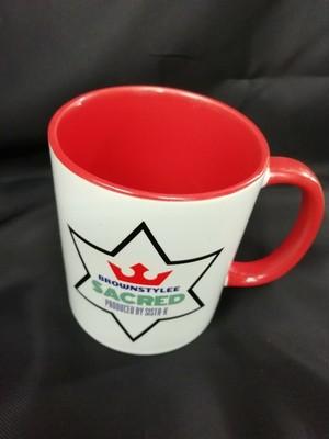 brownstylee sacredオリジナルロゴマグカップ全3カラー -red- / Sista-k