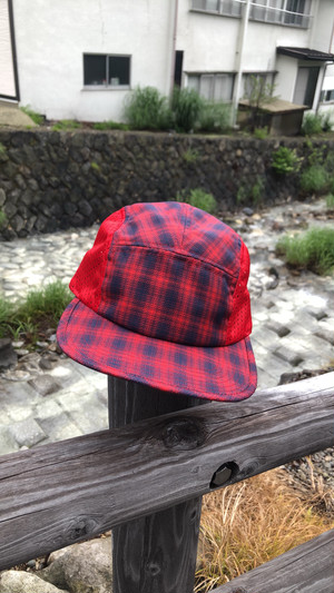 NYLON MESH CAMP CAP(RED)
