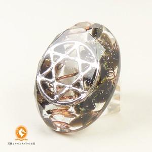 ミニオルゴナイト 六芒星 ダビデの星 モリオン 黒水晶 cm1020hexmol00034