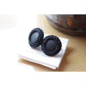itofun×O'KEEFFE142-0003 Beads/Leather Ear-Ring Large