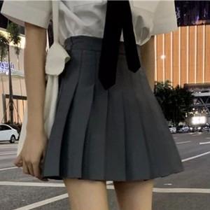 【ボトムス】シンプルショート丈ハイウエストプリーツスカート27203223
