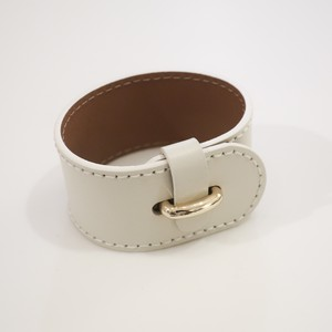 Stitch Leather - Bangle / White