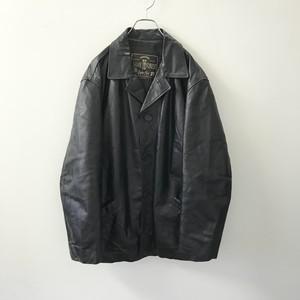 SAVE THE FOREST オーバーサイス レザー ジャケット ブラック イタリア製 メンズ 古着