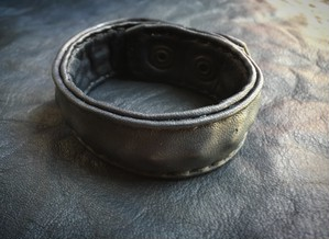 S.L.T.S. Black Cow Leather Bracelet