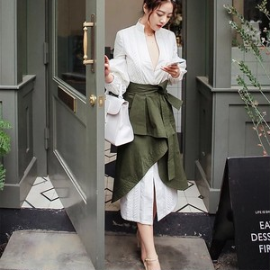 Vintage Army Green Dress♥