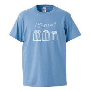 3人ポップコーンTシャツ(サックスブルーS/L)