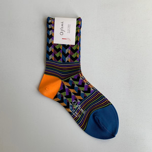 【Ayame】Rhythm Block socks/ AYM007/2001N
