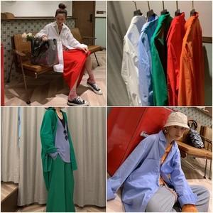 【送料無料】P6136 シャツ ブラウス 長袖 長袖シャツ ロングシャツ ロング丈 無地 カジュアル オーバーサイズ ゆったり 羽織り 韓国ファッション