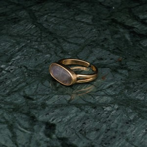 OVAL STONE RING GOLD 001