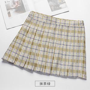 2937レディース ミニスカート  ハイウェスト Aライン プリーツスカート チェック柄 大きいサイズ