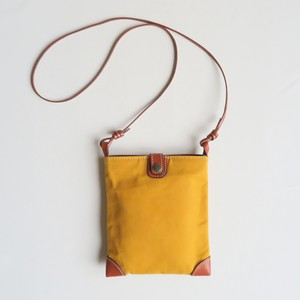 Paraffin canvas mini pochette MUSTARD