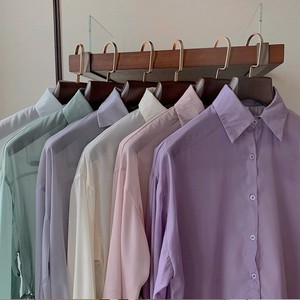 sheer color shirt 5color