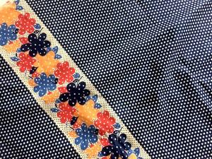 vintage polka dot fabric no.180_(50cm単位)