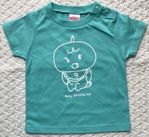 baby ONSO9LINE KIDS Tシャツ ミントグリーン×ホワイト