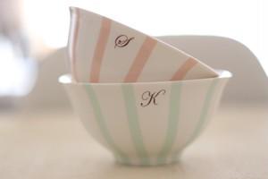 ストライプな夫婦茶碗