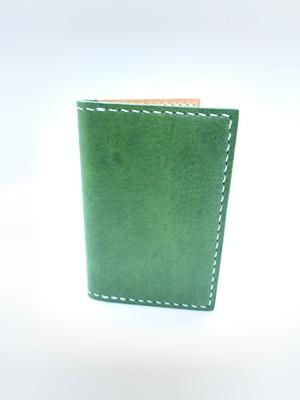 レザー名刺入れ・カードケース イタリア エルバマット 緑