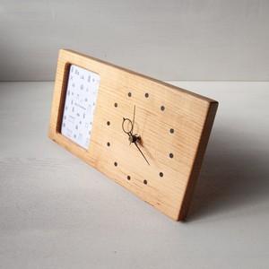木の時計&フォトフレーム No48 | 山桜