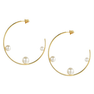 dot pearl hoop pierce
