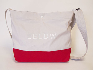 "2WAY ショルダー バッグ ""2WAY SHOULDER BAG""  (GRAY×RED)"
