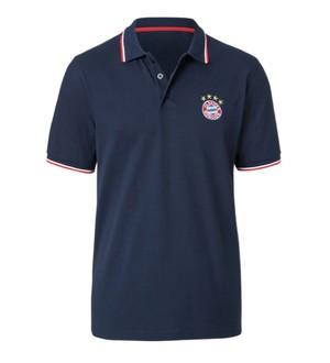 バイエルン・ミュンヘン(FC Bayern Munchen) Mens LOGO navy ポロ