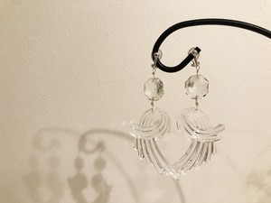 clear fairy earring