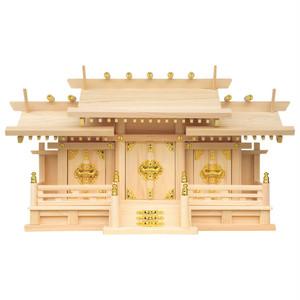 新寸屋根違い三社・小(ひのき)P07-52