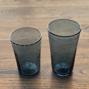 ガラス工房橙さんの藍泡入スタンダードグラスL