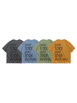 【即日出荷】バック英字ロゴTシャツ ユニセックス メンズ 半袖 ストリート カジュアル シンプル
